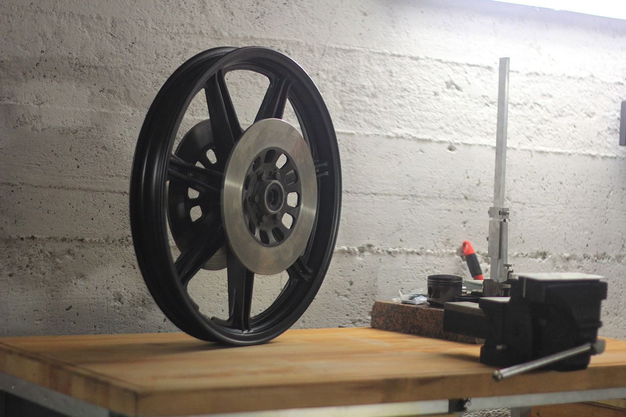 wheels and fork – powder coated and new bearings